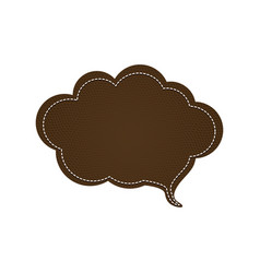 Dotted line with callout for dialogue shaped cloud vector