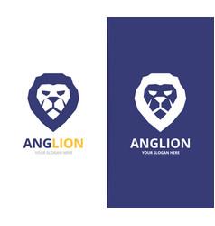 lion logo or symbol design template vector image vector image