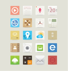 Multimedia web and mobile app icons vector image vector image