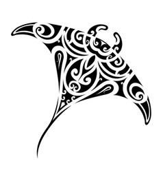 stingray tattoo shape vector image