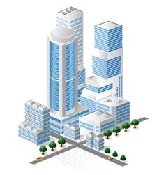 tall buildings vector image vector image