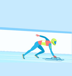 winter sport skeleton vector image vector image