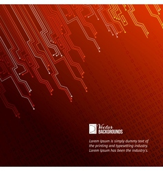 Abstract red lights background vector image