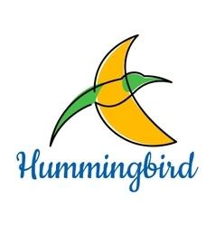 Bright hummingbird soaring in the sky vector image vector image