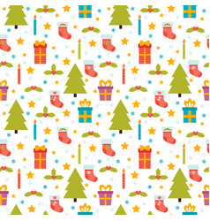 Christmas seamless pattern cute background with vector