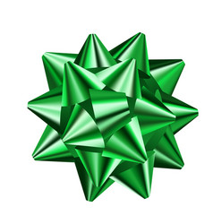 green bow vector image