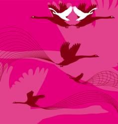pink birds vector image