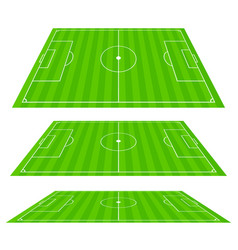 3d soccer field planes vector image