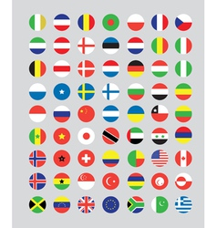 a set of flag buttons vector image