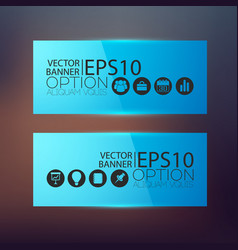 abstract business horizontal banners vector image