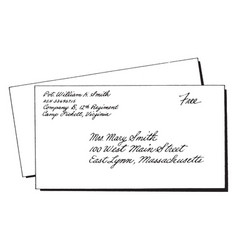 Addressed envelope or addressing your envelope vector