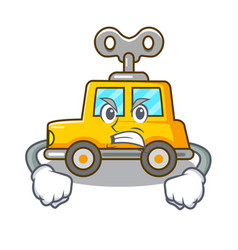 Angry cartoon clockwork toy car for gift vector