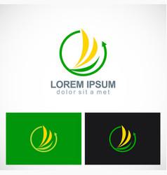 arrow loop round abstract logo vector image