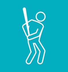 Baseball sport figure outline symbol graphic vector
