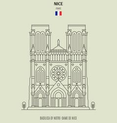 Basilica of notre-dame de nice vector