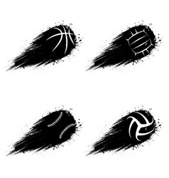 Basketball abstract symbol outline background vector