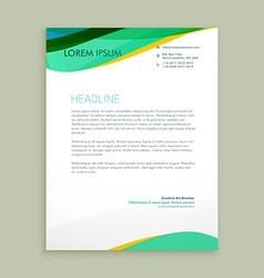 beautiful letterhead presentation vector image