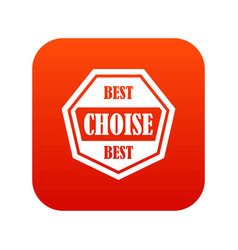 Best choise label icon digital red vector