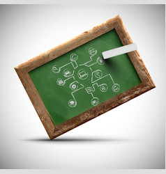 blackboard with office signs vector image