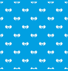 bow tie hipster pattern seamless blue vector image