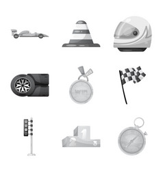 car and rally symbol set vector image