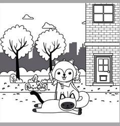 cat and dog cartoon design vector image