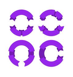 Circular ribbons banners geometric realistic vector
