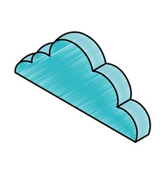 Cloud computing isometric icon vector