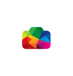 color camera logo icon design vector image
