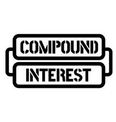 Compound interest stamp vector