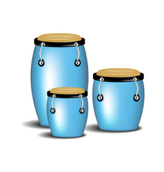 congas band in blue design with shadow vector image