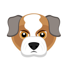 Cute bulldog dog avatar vector