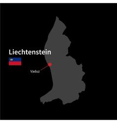Detailed map liechtenstein and capital city vector