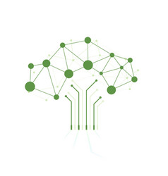 digital tree made circuits vector image