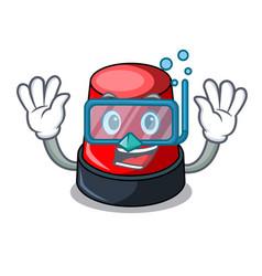Diving sirine character cartoon style vector