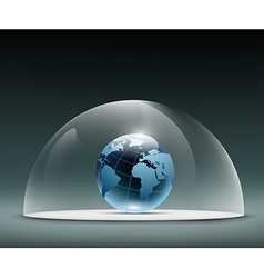 Earth under the dome vector image