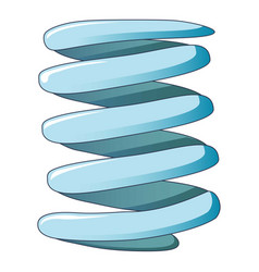 Flexible coil spring icon cartoon style vector