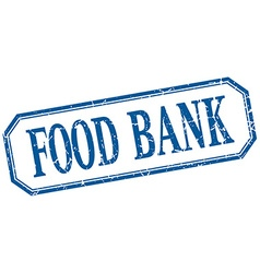 Food bank square blue grunge vintage isolated vector
