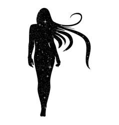 girl star 0005 vector image