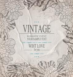 Grey congratulation vintage background vector