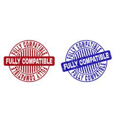 Grunge fully compatible textured round stamp seals vector