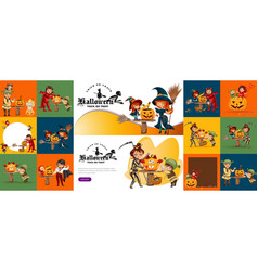 Halloween family set mother vector