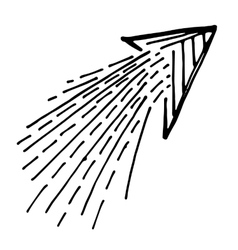 Hand Drawn Arrow Icon vector image