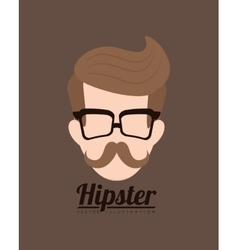 Hipster fashion lifestyle vector image