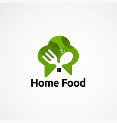 Home food logo designs concept icon element and vector