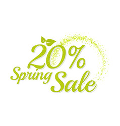 Inscription spring sale vector