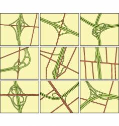 intersections vector image
