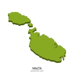 Isometric map of Malta detailed vector