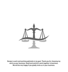 law firm logo design template scales logo vector image