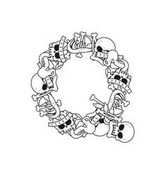 letter q skeleton bones font anatomy of an vector image